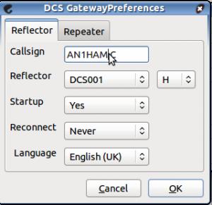 Configurações do refletor.